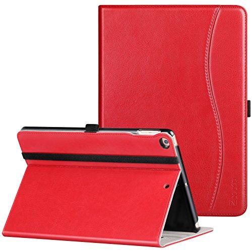 Ztotop Hülle für iPad 9.7 2018/2017, Premium Kunstleder Leichte Schutzhülle Case Cover für iPad 9,7 Zoll iPad 5/6,mit Auto Schlaf/Wach Funktion und Steckplatz für iPad Air 2 / Air 1,Rot