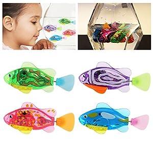 TOYMYTOY 4 Stück Kinder Roboter Fische Elektronische Spielzeug