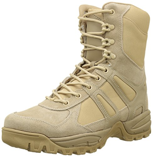 Mil-Tec Security Police Army Combat Leather Boots Generation II Mens Tactical Khaki Size 11