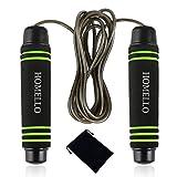 Homello Springseil Sport - Speed Jump Rope Verstellbare mit Hautfreundlichen Schaum Griffe und Stahl Seil für Fitness und Boxen - Inklusive Tragebeutel