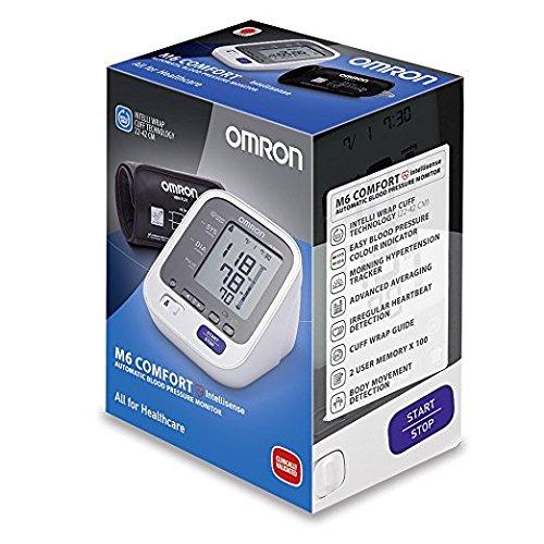 OMRON M6 Comfort   Tensiómetro de brazo  tecnología Intelli Wrap Cuff lo que permite obtener resultados precisos en cualquier posición alrededor del brazo