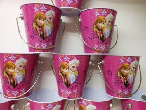 12 Pc Disney Frozen Anna & Elsa Frozen Princesses Tin Bucket Party Favor by The (Tin Bucket)
