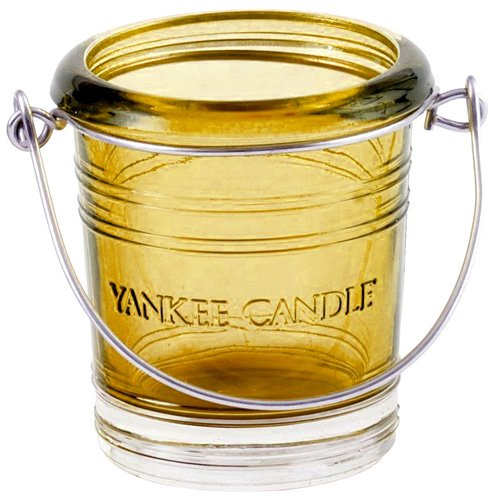 YANKEE CANDLE Kerzenständer, Glas, gelb