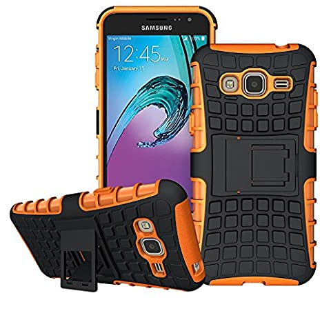 GALAXY J3 Case, GALAXY J3 PRO / J3 2016 Case, [HEAVY DUTY ARMOR] Dual Layer Rugged Hybrid [Hard Shockproof] Case with Kickstand for Samsung Galaxy J3 Cover [Compatible With Screen Protector] by Ample®