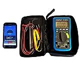 Digital Multimeter HP-90EPD mit mobiler App Nutzung, Batterietester, Autorange und Zubehör