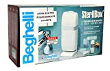 "Beghelli Sterilbox The Toothbrush Teeth To Light Germicidal UV-C ""All White Model Only for Wall Positioning"