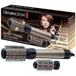 Remington AS8110 Warmluftbürste Keratin Therapy Volume & Protect, rotierend, Rechts- und Linkslauf, zwei Rundbürstenaufsätze, braun