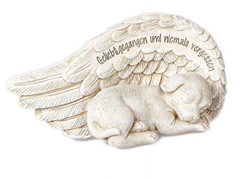 Tiergrabstein Gedenkstein für verstorbenen Hund mit Trauerspruch 18cm