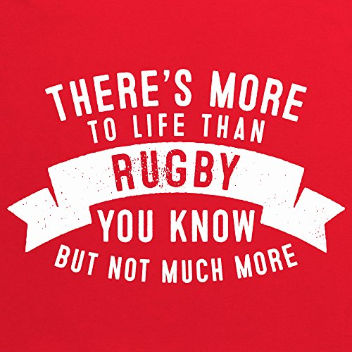 More To Life - Rugby T-Shirt, Herren Rot