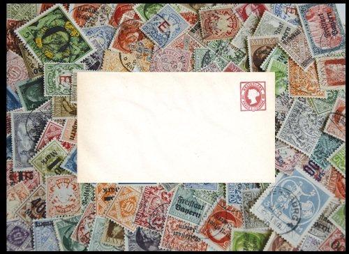 Goldhahn Altdeutschland 100 Marken mit Helgoland Ganzsache Briefmarken für Sammler
