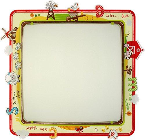 (Dalber 64406 My little Farm Decken/Wandlampe, Metall, gelb, 42 x 43,5 x 75 cm)