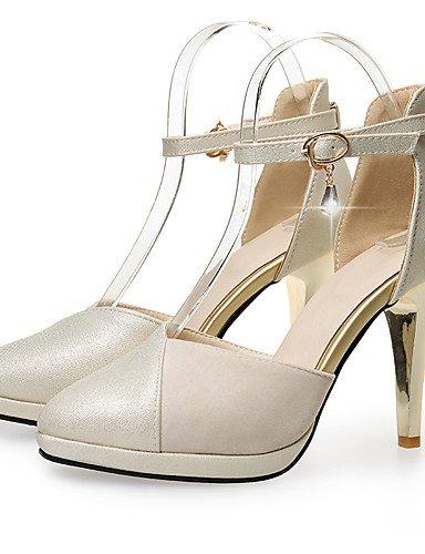 WSS 2016 Chaussures Femme-Bureau & Travail / Habillé / Décontracté-Rose / Rouge / Beige-Talon Aiguille-Talons / Confort / Bout Pointu-Talons- red-us7.5 / eu38 / uk5.5 / cn38