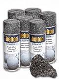 6 x Belton Granit-Effekt-Spray 400ml obsidian-schwarz