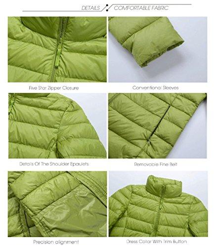 Damen Daunen Jacke Leicht Herbst Winter Übergangsjacke Steppjacke ohne Kapuze Rundhals Kragen, 9 Farben,XXS-XL Blau