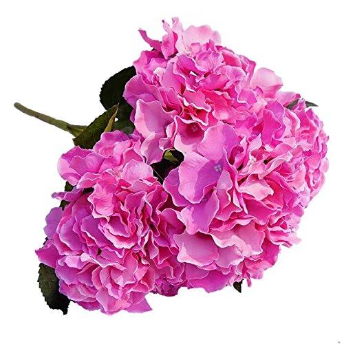 Celine lin, 5 große Köpfe, künstliche Hortensien, Kunstblumen, Strauß für Zuhause, Hotel, Hochzeit, Party, Garten, Blumenmuster, D Rose