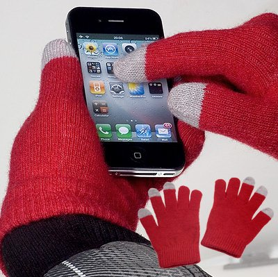 YAYAGO Touchscreen Handschuhe Universalgröße (ca. S - M) - Für Base Lutea 2 ZTE Skate U960 Medion Life P4310