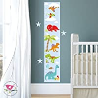 Dinosaur Height Chart for Kids, Dinosaur Growth Chart for Children, T-Rex Stickers Bedroom Decor, Toddler Boy, Kids Gift, Baby Nursery