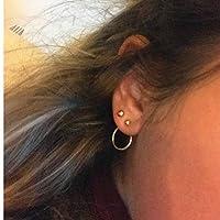 SSEHX earring Long Simple Ear Earrings For Women Accessories Fashion Gold Silver Punk jewelry