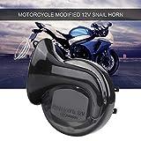 Qiilu Trombe Moto, Universale 12V 110dB 510HZ Altoparlante vocale elettrico per moto Horn Loud