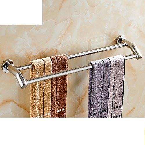 Portasciugamani in acciaio inox/ bagno asciugamano appeso/ bathroom wall e Sapone/ doppia cremagliera di tovagliolo-H