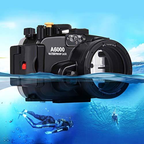 Footprintse PULUZ 40m Unterwasser Tauchen Fall Wasserdicht Kamera Gehäuse für Sony A6000-Farbe: Schwarz