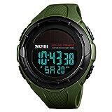 Amstt Solar Uhren für Herren Armbanduhr Uhren Wasserdichten Sport Analog Digital Stoppuhr(Armeegrün)
