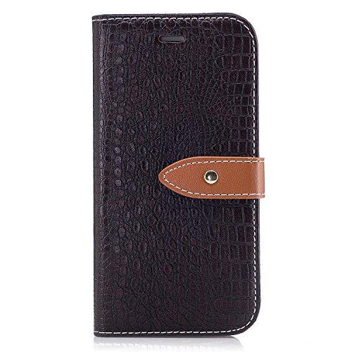 Nancen Wallet Case Hülle für Apple iPhone 6 / 6S (4,7 Zoll) ,Pfeilmarkierung-Magnet ,Krokodilhaut Muster Flip Funktion Kartenfächer Etui ,Schütze Dein Telefon Krokodilmuster-4
