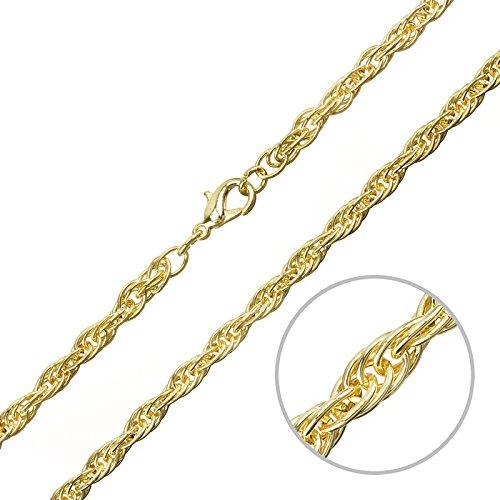 5mm Corda Catena Collana con chiusura placcata oro da 16cm - 16 Collana Della Corda Catena