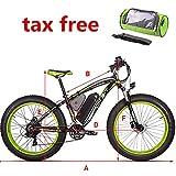 RICH BIT tp012 eBike MTB Elektro Fahrrad Hybrid Mountain Man 1000 Watt 48 V 17 Ah Shimano 21 Geschwindigkeiten Hydraulische Scheibenbremse fettes elektrisches Fahrrad Schnee-E-Bike DE Stecker (Grün)