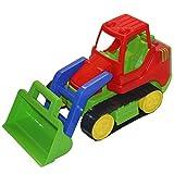 ADRIATIC Baufahrzeuge groß Raupe Bagger Traktor Radlader Sandkasten Spielzeug, Modell / Charakter:Raupe m. grüner Schaufel