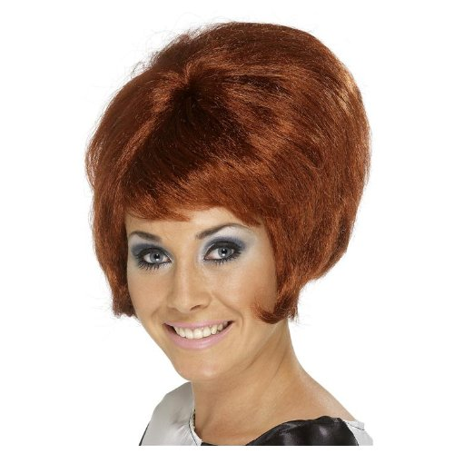 Kupfer 50er 60er Jahre Disco Girl Perücke Kupferfarben Damenperücke rotbraun rotbraune