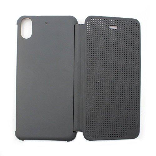 Defender Premium Best DOT VIEW Bumper Touch Flip Case Cover with Sensor for HTC Desire 626G Plus (626G+) - GREY
