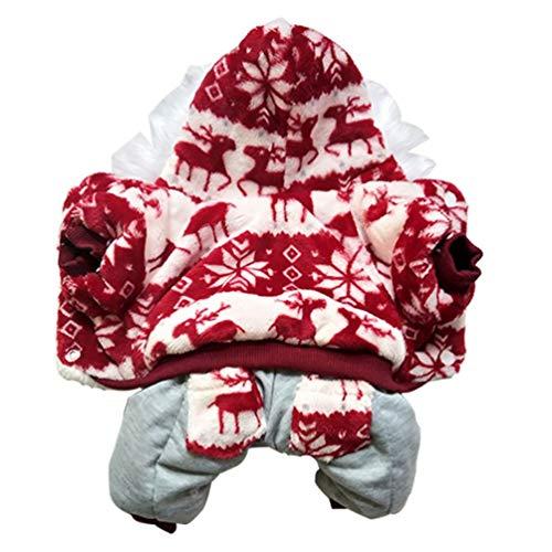 Feidaeu Winter Hundebekleidung Verdickung Cord Warme Nette Haustier -