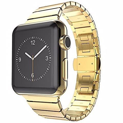 Apple Watch 38 mm Butterfly Edelstahl Stainless Steel Armband für Series 1 / 2 / 3 Basic / Sport / Edition in Gold