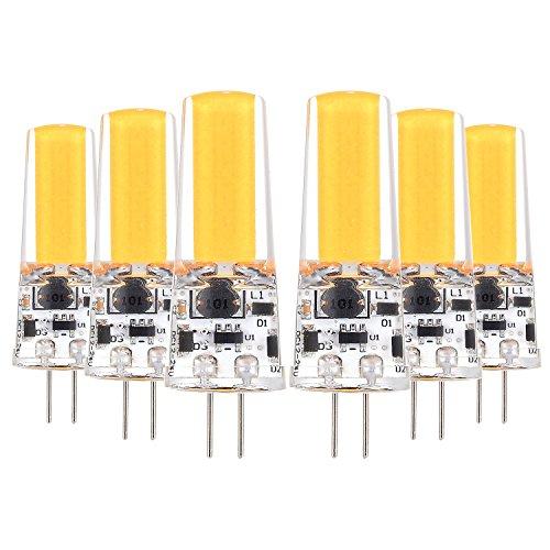 HBR G4 5W 400-500 LM DC 12-24V LED COB décoratif LED bi-Broches lumières 12V AC