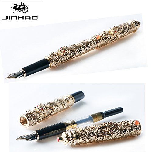Jinhao double dragon Jewelry Medium Feder Füllfederhalter pen-vintage Tower Collection Geschenk...