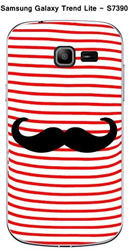 Coque Samsung Galaxy Trend Lite S7390 design Mariniere rouge Moustache