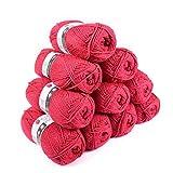 Laines Cheval Blanc - Lot 10 pelotes de laine (10x50g) UTTACRYL 100% acrylique - 1300 m de laine pour tricot et crochet...