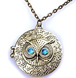 Best Owl Necklace - Bold N Elegant Retro Owl Eye Statement Gold Review