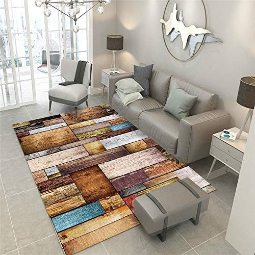 KFEKDT Moderner Retro Art Teppich Rechteckiger Teppich Wohnzimmer Couchtisch Teppich Schlafzimmer Nachttisch Rutschfester Teppich A3 120x160CM