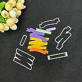 FNKDOR Stanzschablone Scrapbooking Stanzmaschine Stanzen Schablonen Stanzformen Prägeschablonen, Zubehör für Sizzix Big Shot und andere Prägemaschine (I)