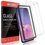 MASCHERI Verre Trempé pour Samsung Galaxy S10e, protégé écran [3 pièces] [Cadre de positionnement ] Film ecran de Protection écran pour Samsung S10e - Transparent