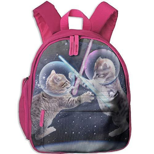 Two Cat Fighting In The Universe Toddler Kids Pre School Bag Cute 3D Print Children School Backpack - Kids Spy 3d
