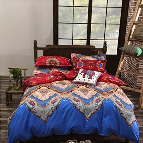 SHJIA Ethnischen Stil Tröster Bettwäsche-Sets Bettbezug Set Kissenbezug König Queen Size Bettwäsche Tagesdecke D 220x240cm -