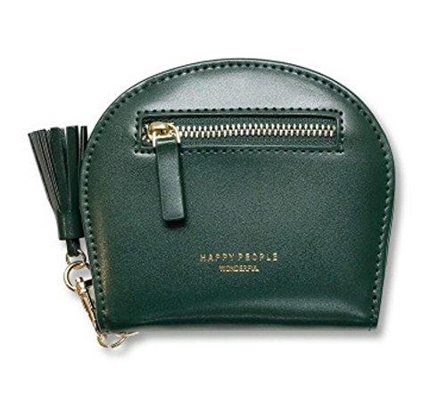 Ylen Quaste Klein Mädchen Geldbörse mit Münzen Tasche Damen Kurz Zweifach Geldbeutel Mini Clutch Card Holder Wallet Lv