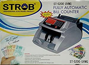 Strob 5200 Note/Money/Cash/Currency Counting Machine with fake note detection. 1 Year Warranty
