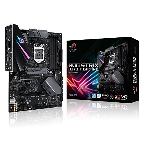 Asus Rog Strix H370-F Gaming Mainboard Sockel 1151 (ATX, Intel H370, DDR4, dual M.2 mit integriertem Kühler, 6Gbit/s SATA, USB 3.1 Gen 2, Aura Sync) - Gaming Motherboard Asus
