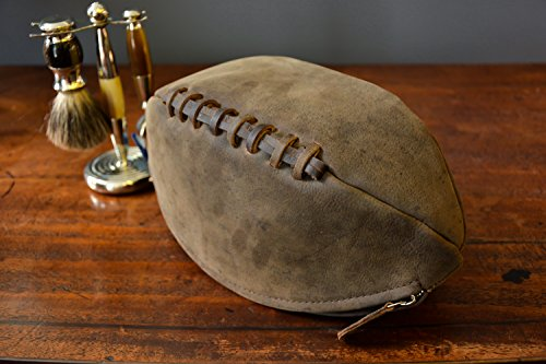 Lakeland Real Leather Rugby Ball Washbag in Vintage Style