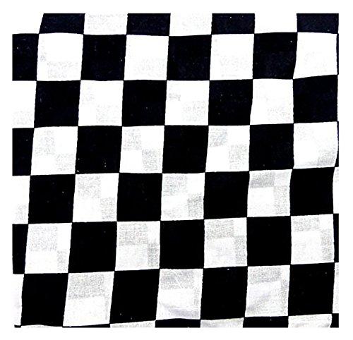 Preisvergleich Produktbild Evil Wear Nickituch schwarz weiss kariert Flaggen Motive viele Bandana Kopftücher Halstuch Armbänder Zantana Tücher (White Karo Punk)