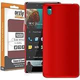 Orzly® - Cover Exec Armor per OnePlus X SmartPhone (OxygenOS UI Version - Dual SIM 2015 Modello) - Custodia Rigida con Design UltraSlim ROSSO